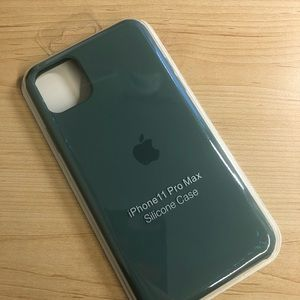 iPhone 11 Pro Max Silicon Case Pine Green